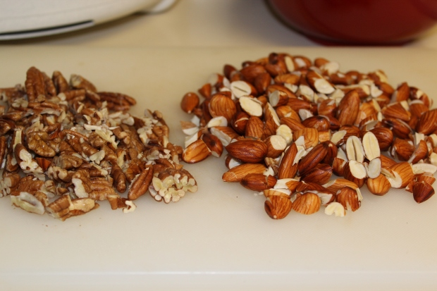 Soaked and drained almonds and pecans