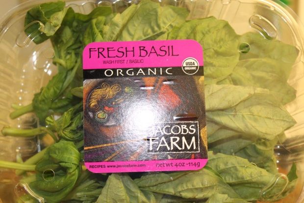 Fresh basil from Whole Foods