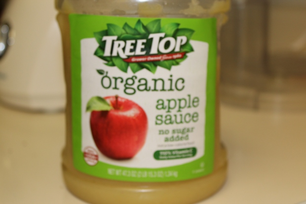 Organic applesauce can be found at Costco